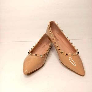 FOREVER Neutral Studed Flats